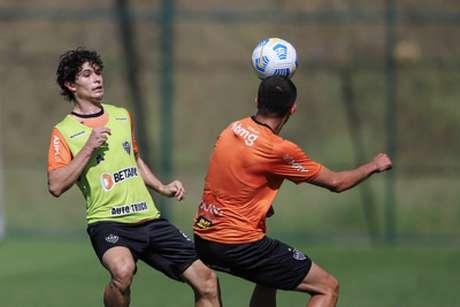 Dodô se lesionou no segundo tempo do jogo contra o Internacional, pelo Brasileiro- (Pedro Souza/Atlético-MG)