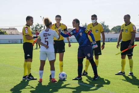 Guerreiras de Xerém derrotam o Dragão por 3 a 1,no CT do Dragão, em Goiânia(Divulgação/Fluminense)