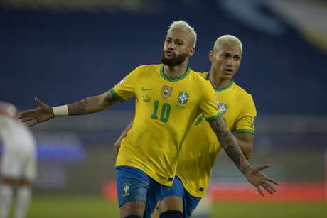 Neymar marcou uma vez na goleada por 4 a 0 contra o Peru (Foto: Lucas Figueiredo/CBF)