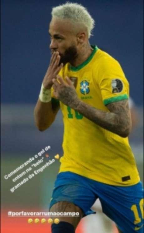 Neymar ironizou o gramado do Nilton Santos (Reprodução: Internet)