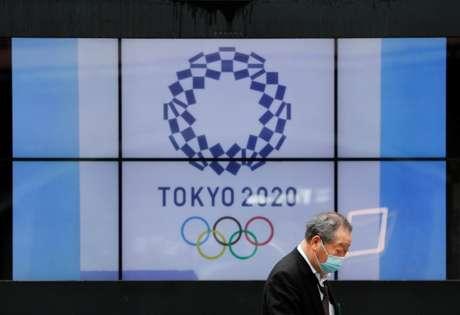 Logo da Olimpíada Tóquio 2020 em Tóquio 14/04/2021 REUTERS/Issei Kato