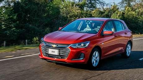 Chevrolet Onix foi o que menos subiu: 5,71% de reajuste e preço médio de R$ 72.466.