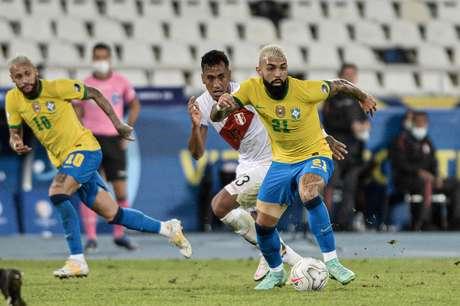 Gabigol teve atuação apagada contra o Peru