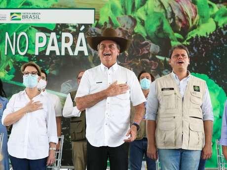Jair Bolsonaro participa da cerimônia em Marabá, no Pará
