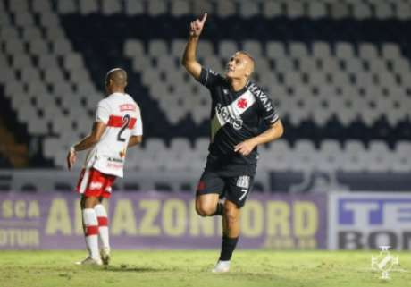 Léo Jabá marcou seu primeiro gol pelo Vasco (Rafael Ribeiro/Vasco)