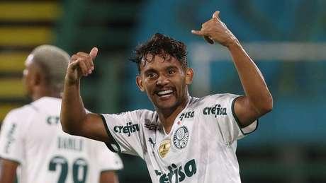 Gustavo Scarpa foi um dos destaques do Palmeiras na vitória sobre o América-MG (Foto: Cesar Greco/Palmeiras)