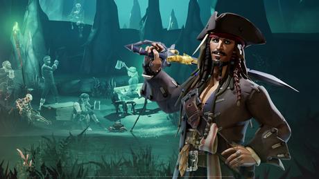 Jack Sparrow em Sea of Thieves