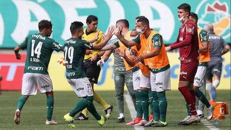 Willian marcou os dois gols do Palmeiras sobre o América-MG (Foto: Cesar Greco/Palmeiras)