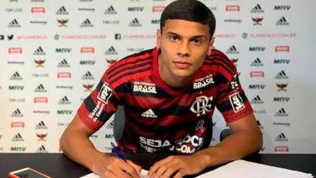 Richard chegou ao Flamengo em 2019 (Foto: Reprodução)