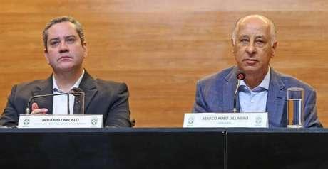 Rogério Caboclo e Del Nero (Rafael Ribeiro/CBF/Divulgação)