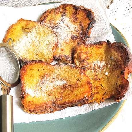 Rabanadas com pão de brioche