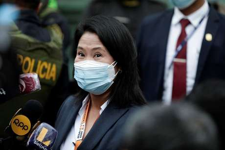Keiko Fujimori em Lima  21/6/2021   REUTERS/Angela Ponce