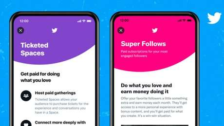 Super follow e ingressos para o Twitter Spaces