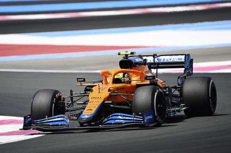Lando Norris terminó el GP de Francia en quinta posición