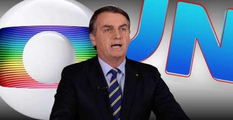 A Globo e o 'Jornal Nacional' são os alvos preferidos de Bolsonaro na grande mídia