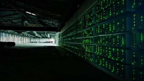 Centro de mineração de criptomoedas