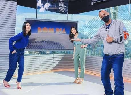 A jornalista Michelle Barros, que substitui Rodrigo Bocardi na apresentação do'Bom Dia São Paulo'