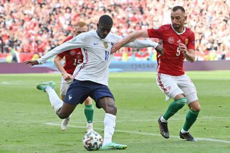 Dembélé se contundiu em partida contra a Hungria pela Eurocopa (TIBOR ILLYES / POOL / AFP)