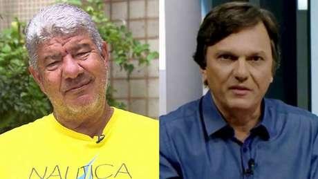 Joel Santana atacou Mauro Cezar após receber críticas do comentarista (Montagem LANCE!)