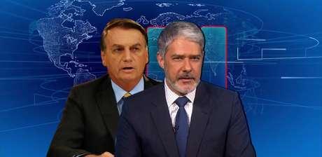 """Ao explicar sua fúria recorrente contra a Globo, Bolsonaro diz se sentir """"perseguido"""" pelo 'JN' sob o comando de Bonner"""