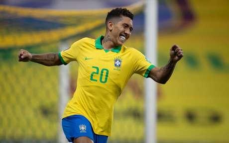 Firmino fez o primeiro gol do Brasil na partida (Foto: Lucas Figueiredo/CBF)
