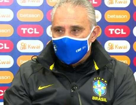 'Te confesso que esse jogo não é a característica que a tradição de Brasil e Colômbia teve', diz Tite (Foto: Reprodução / Conmebol)