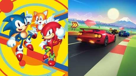 Sonic Mania e Horizon Chase Turbo estão de graça na Epic Games Store (Imagens: Divulgação/SEGA/Aquiris)