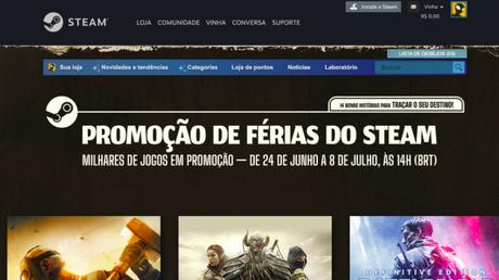 Promoção de Férias no Steam já começou