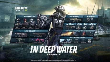 """Temporada 5 de Call of Duty Mobile se chama """"Em Águas Profundas"""""""