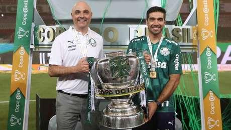 Galiotte segura a Copa do Brasil com Abel Ferreira (Foto: Cesar Greco/Palmeiras)
