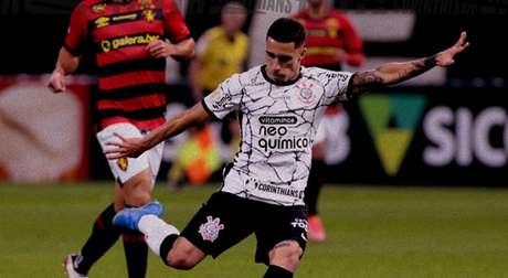 Com Gabriel (foto) como titular, Gabriel vence a primeira na Arena pelo BR (Foto: Reprodução/Twitter do Corinthians)