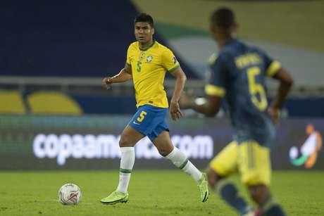 Casemiro também elogiou a Colômbia (Foto: Lucas Figueiredo/CBF)