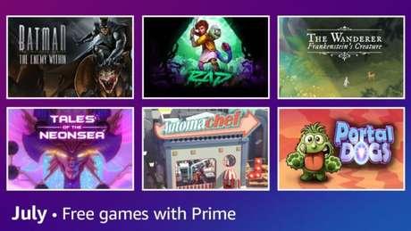 Jogos do Prime Gaming em julho