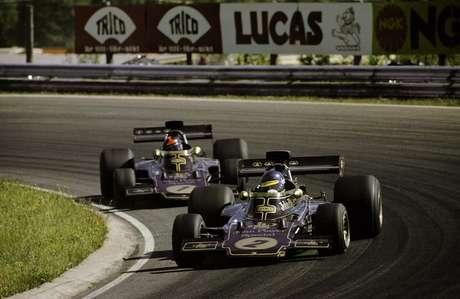 Ronnie Peterson e Emerson Fittipaldi: 15 corridas juntos na Lotus.