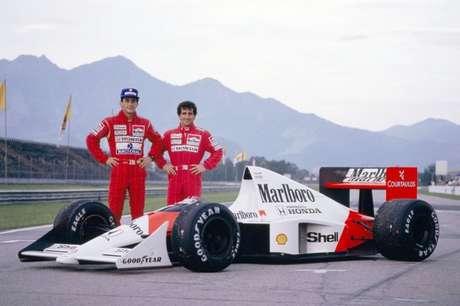 Ayrton Senna e Alain Prost: 32 corridas juntos na McLaren.