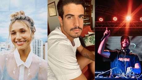 Sasha trabalha com moda, Enzo é empresário e Ronald é DJ.