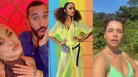 Gil do Vigor, Pabllo Vittar, Gabriela Hebling e Bruna Linzmeyer compartilharam cliques nas redes sociais.