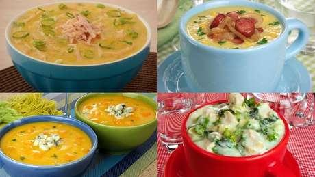 Receitas de sopa-creme