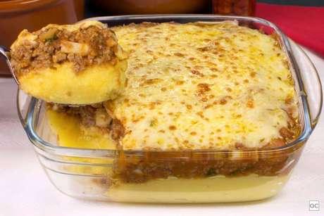 Guia da Cozinha - Receita de polenta com carne moída pronta em 50 minutos