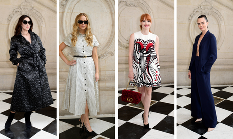 Cara Delevigne, Jennifer Lawrence, Jessica Chastain e Monica Bellucci (Fotos: Valentine Bedel/Dior/Divulgação)