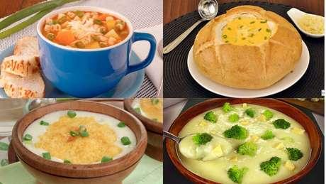 Receitas de sopas vegetarianas e veganas