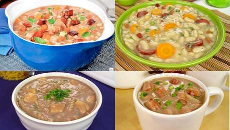 Receitas de sopa de feijão