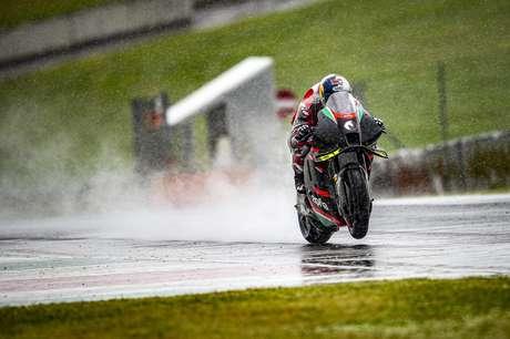 Andrea Dovizioso ha provato sulla pista bagnata del Mugello