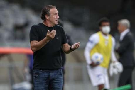 Cuca disse que terá tempo só de conversar com os jogadores antes da viagem-(Pedro Souza/Atlético-MG)