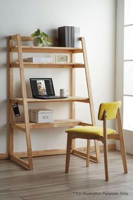 22. Escrivaninha estante cavalete de madeira – Foto FortyTwo
