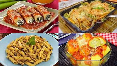Receitas de massas vegetarianas
