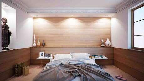 5. Decoração em cores neutras para quarto de casal de apartamento – Foto: Pixabay