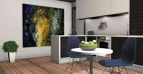 1. Mesa redonda para decoração de cozinha de apartamento planejada – Foto: Pixabay