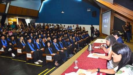 Cerimônia de formatura na Unicamp, a segunda universidade brasileira mais bem colocada no ranking