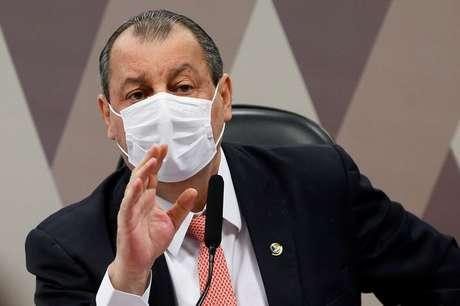 Presidente da CPI da Covid, senador Omar Aziz, durante reunião do colegiado no Senado REUTERS/Adriano Machado